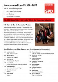 Übersicht Kommunalwahl 2020 Ortsverein Neuperlach